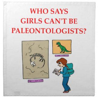 paleotologyn servilleta de papel