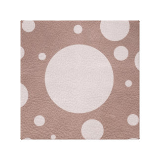 PalePink Scattered Spots on Taupe Leather Texture Canvas Print