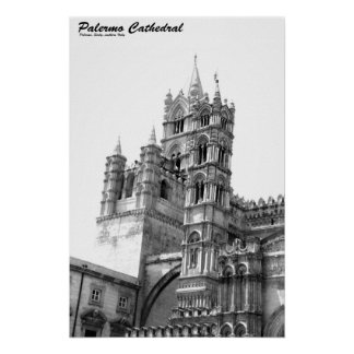 Palermo Cathedral Black & White Poster