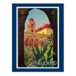 Palermo, Italy Vintage Travel Advertisement Postcards