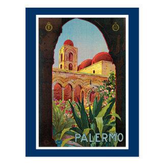 Palermo, Italy Vintage Travel Advertisement Postcard