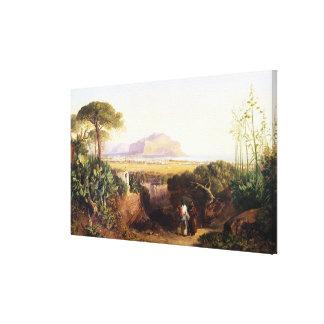 Palermo, Sicilia, 1847 (aceite en lona) Impresión En Lona Estirada
