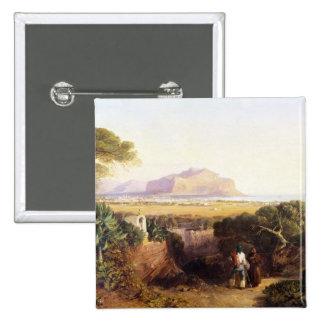Palermo, Sicilia, 1847 (aceite en lona) Pin Cuadrada 5 Cm