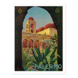 Palermo Sicilia Italy Vintage Travel Poster Art Postcard