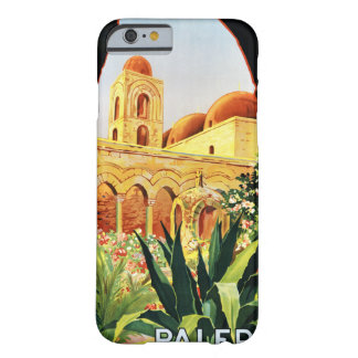 Palermo Sicilia Vintage Travel Poster Restored Barely There iPhone 6 Case