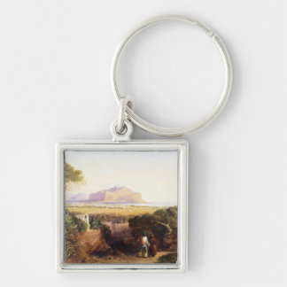 Palermo, Sicily, 1847 (oil on canvas) Keychain