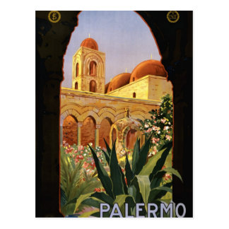 Palermo Sicily Italian Travel Poster 1920 ENIT Postcard