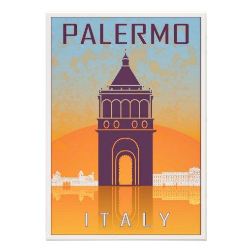 Palermo vintage poster fotos