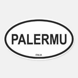 PALERMU OVAL STICKER