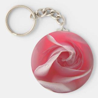Palest Pink Basic Round Button Keychain