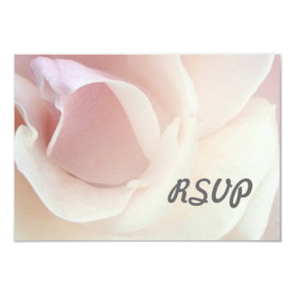 """Palest Pink Rose Wedding RSVP Reply Cards 3.5"""" X 5"""" Invitation Card"""