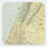 Palestina 4 pegatina cuadrada