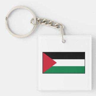 Palestina - bandera palestina llavero cuadrado acrílico a doble cara