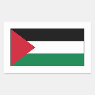 Palestina - bandera palestina pegatina rectangular