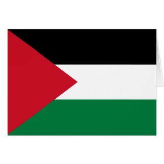 Palestina - bandera palestina tarjeta de felicitación