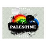Palestina con sabor a fruta linda tarjetas postales