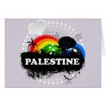 Palestina con sabor a fruta linda tarjetas