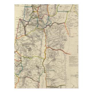 Palestina, distritos adyacentes postal