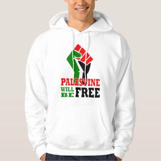 Palestina estará libre suéter con capucha