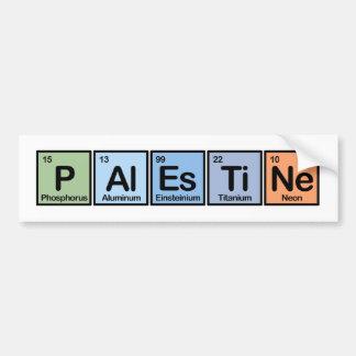 Palestina hizo de elementos pegatina para auto