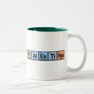 Palestina hizo de elementos taza de café de dos colores