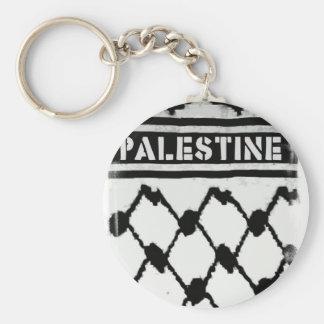 Palestina Keffiyah Llavero Redondo Tipo Pin