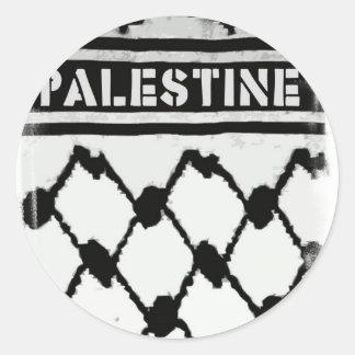 Palestina Keffiyah Pegatina Redonda