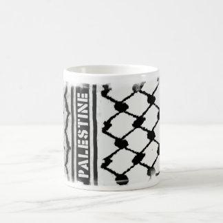 Palestina Keffiyah Taza Básica Blanca