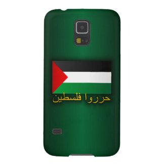 Palestina libre (árabe) fundas de galaxy s5