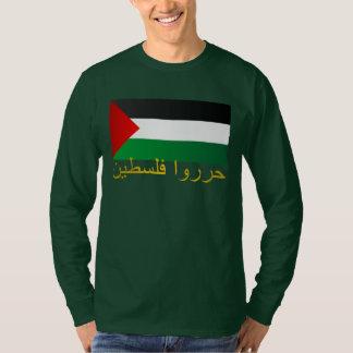 Palestina libre (árabe) remeras