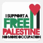 Palestina libre calcomania cuadradas personalizada
