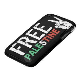Palestina libre con el signo de la paz iPhone 3 cárcasas