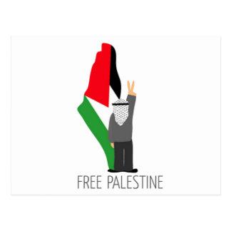 Palestina libre con la derecha de la vuelta postal
