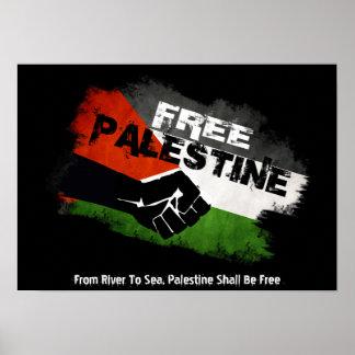 Palestina libre - del río al mar póster