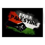 Palestina libre - del río al mar tarjeta de felicitación