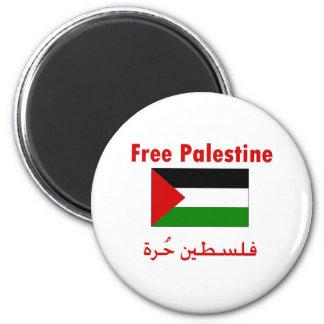 Palestina libre imán redondo 5 cm