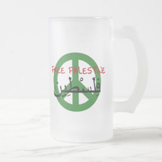 Palestina libre jarra de cerveza esmerilada