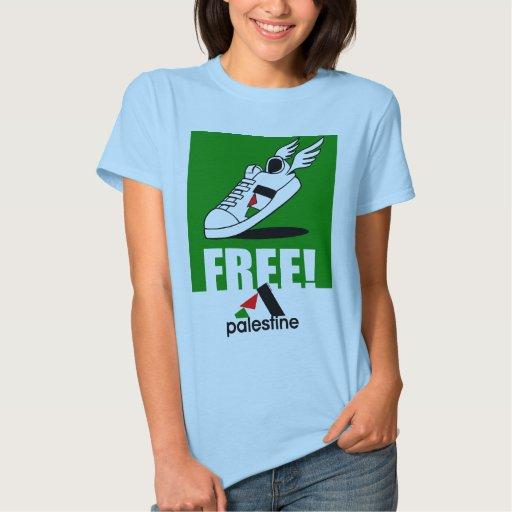PALESTINA LIBRE (la camiseta de la SEÑORA) Playera