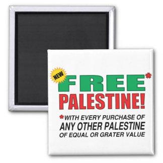 Palestina libre - libérenos de Palestina por favor Imán Cuadrado