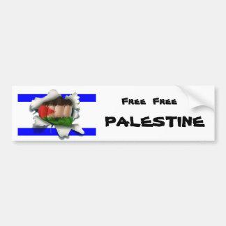 Palestina libre libre etiqueta de parachoque
