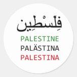 Palestina libre pegatina redonda