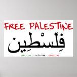 Palestina libre póster