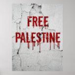 Palestina libre - poster pintado