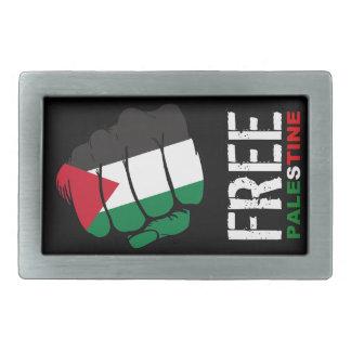 Palestina libre - puño cerrado hebilla cinturón rectangular