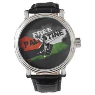 Palestina libre reloj de mano