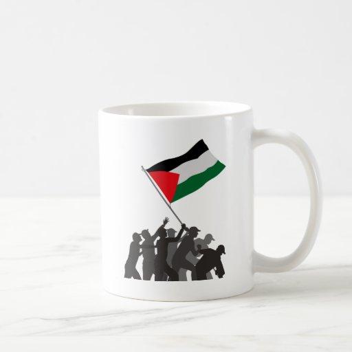 Palestina libre taza básica blanca