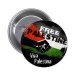 Palestina libre - Viva Palestina Pin Redondo De 2 Pulgadas