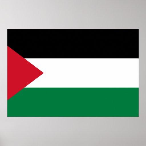 Palestina, Palau señala por medio de una bandera Poster