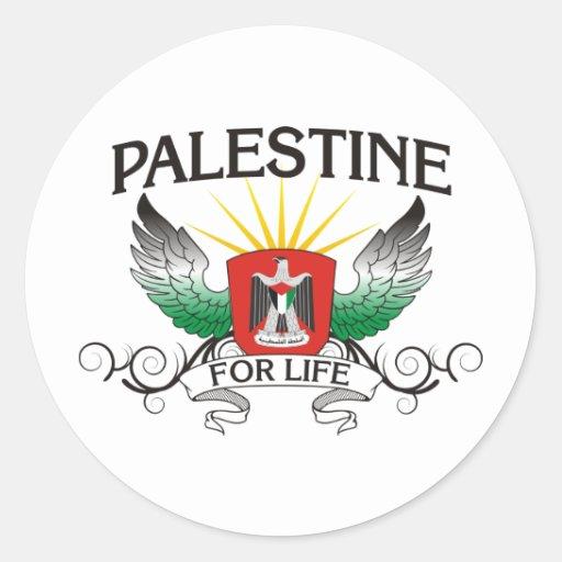 Palestina para la vida etiquetas redondas