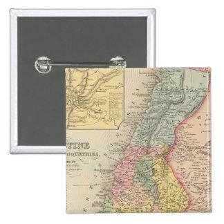Palestina y países adyacentes 2 pin cuadrada 5 cm